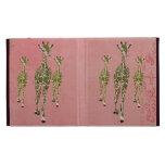 Vintage Pale Pink Olive Giraffes Caseable Case iPad Case