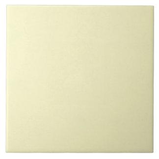 Vintage Pale Yellow Parchment Background Template Large Square Tile