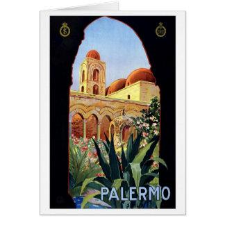 Vintage Palermo Sicilia Card