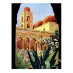 Vintage Palermo Sicilia Tarjetas Postales