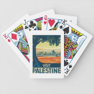 Vintage Palestina Oriente Medio Cartas De Juego