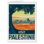 Vintage Palestina Oriente Medio Felicitación