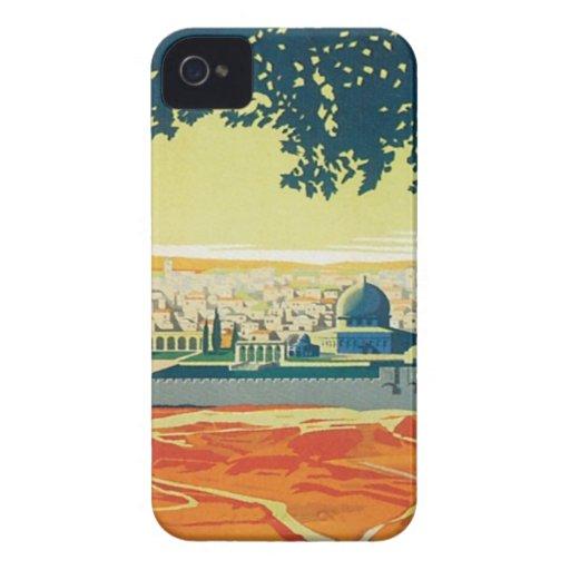 Vintage Palestina Oriente Medio iPhone 4 Case-Mate Cárcasas