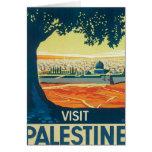 Vintage Palestina Oriente Medio Tarjeta