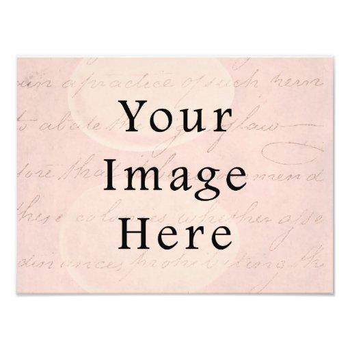 Vintage pálido - papel de pergamino color de rosa  impresión fotográfica