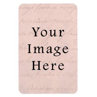 Vintage pálido - papel de pergamino color de rosa  imán flexible