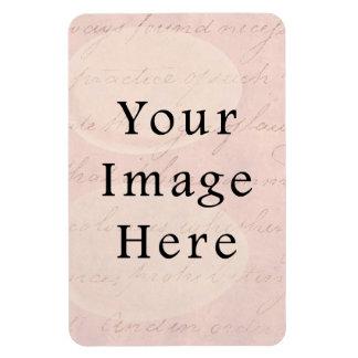 Vintage pálido - papel de pergamino color de rosa  imanes de vinilo