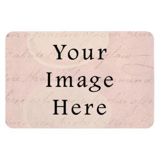 Vintage pálido - papel de pergamino color de rosa  imán rectangular