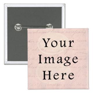 Vintage pálido - papel de pergamino color de rosa  pin cuadrada 5 cm