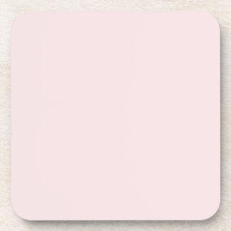 Vintage pálido - plantilla rosada del espacio en b posavasos de bebidas