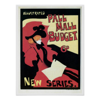 Vintage Pall Mall budget magazine ad Poster