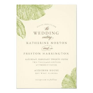 Vintage Palm Destination Beach Wedding Invitation