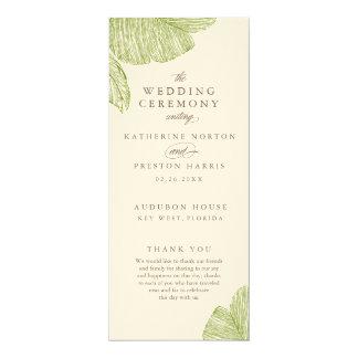Vintage Palm Destination Wedding Programs