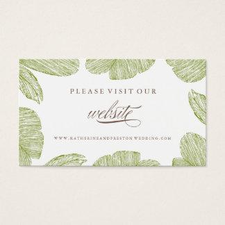 Vintage Palm Destination Wedding Website Insert