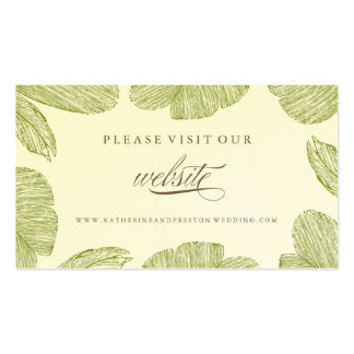 Vintage Palm Destination Wedding Website Insert Business Card