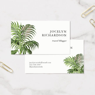 Vintage Palm Leaves Business Card