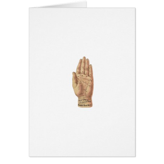 Vintage Palm Reading Diagram Card