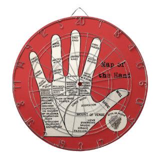 Vintage palm reading palmistry Hand Map Dartboards