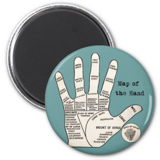 Vintage palm reading palmistry Hand Map Magnet
