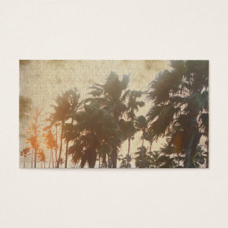 Vintage Palm Tree Business Cards