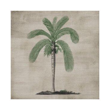 Beach Themed Vintage Palm Tree Canvas Print