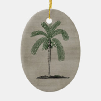 Vintage Palm Tree Ceramic Ornament