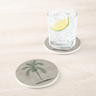 Vintage Palm Tree Drink Coasters