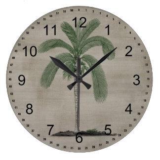 Vintage Palm Tree Large Clock