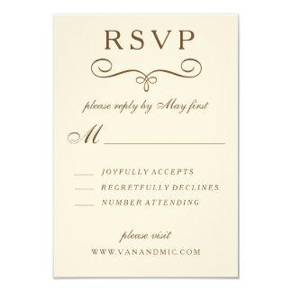 Vintage Palm Tree Long Wedding Invite RSVP Card