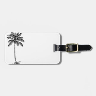 Vintage Palm Tree Luggage Tag