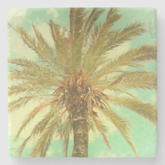 Vintage Palm Tree Stone Coaster