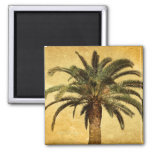 Vintage Palm Tree - Tropical Customized Template 2 Inch Square Magnet