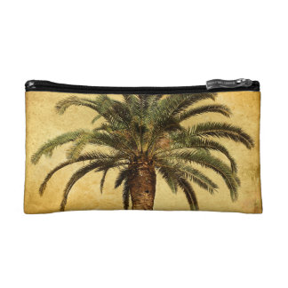 Vintage Palm Tree - Tropical Customized Template Makeup Bags