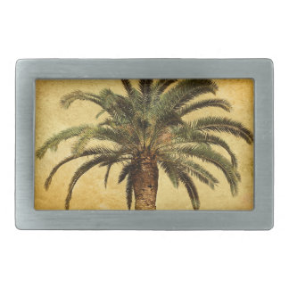 Vintage Palm Tree - Tropical Customized Template Belt Buckle