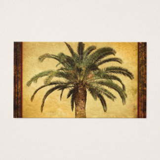Vintage Palm Tree - Tropical Customized Template Business Card
