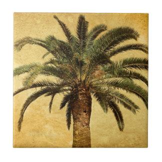 Vintage Palm Tree - Tropical Customized Template Ceramic Tile