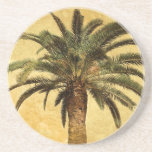 Vintage Palm Tree - Tropical Customized Template Coasters