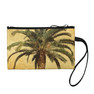Vintage Palm Tree - Tropical Customized Template Coin Purse
