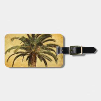Vintage Palm Tree - Tropical Customized Template Tag For Luggage