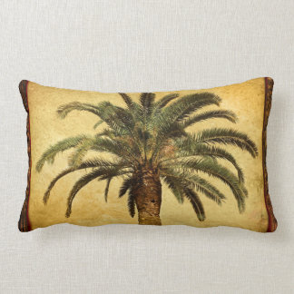 Vintage Palm Tree - Tropical Customized Template Lumbar Pillow