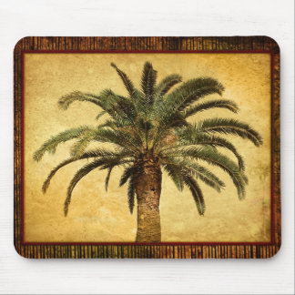 Vintage Palm Tree - Tropical Customized Template Mouse Pad
