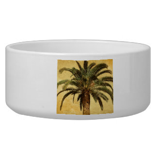 Vintage Palm Tree - Tropical Customized Template Pet Bowls