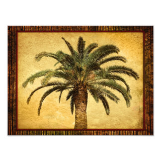 Vintage Palm Tree - Tropical Customized Template Photo Print