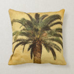 Vintage Palm Tree - Tropical Customized Template Throw Pillows