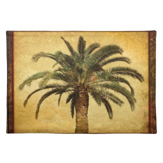 Vintage Palm Tree - Tropical Customized Template Place Mats
