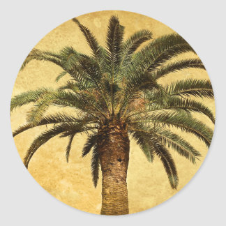 Vintage Palm Tree - Tropical Customized Template Sticker