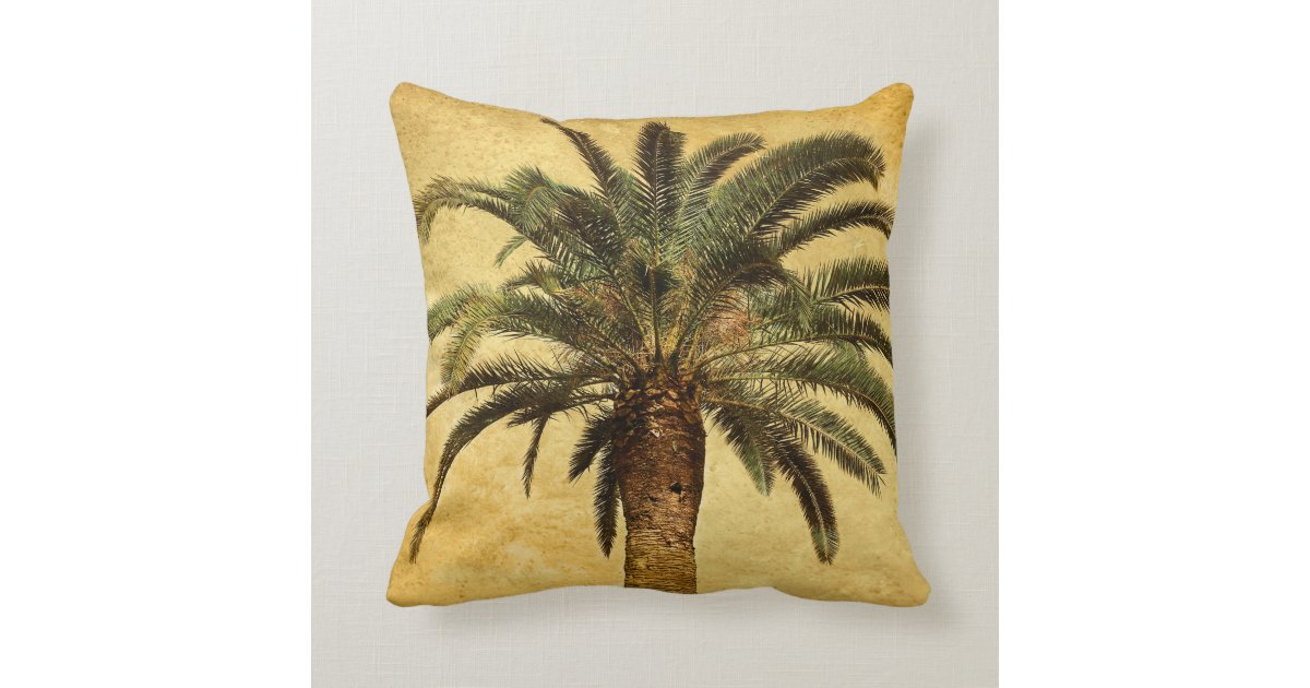 Vintage Palm Tree Tropical Customized Template Throw