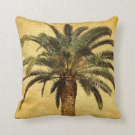 Vintage Palm Tree - Tropical Customized Template Throw Pillow
