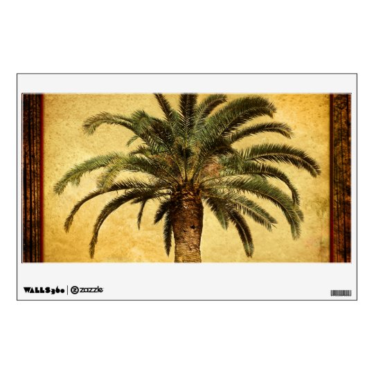 Vintage Palm Tree - Tropical Customized Template Wall Decal