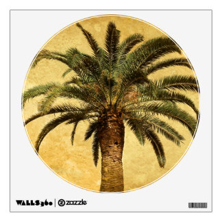 Vintage Palm Tree - Tropical Customized Template Room Decal